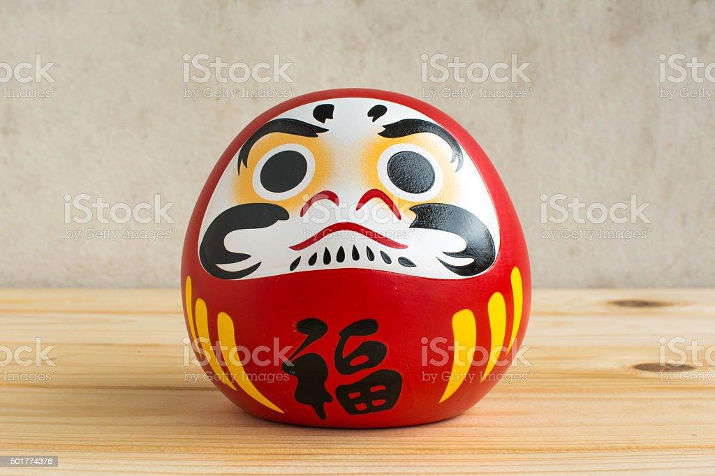 Daruma doll japanese symbolise stock photo