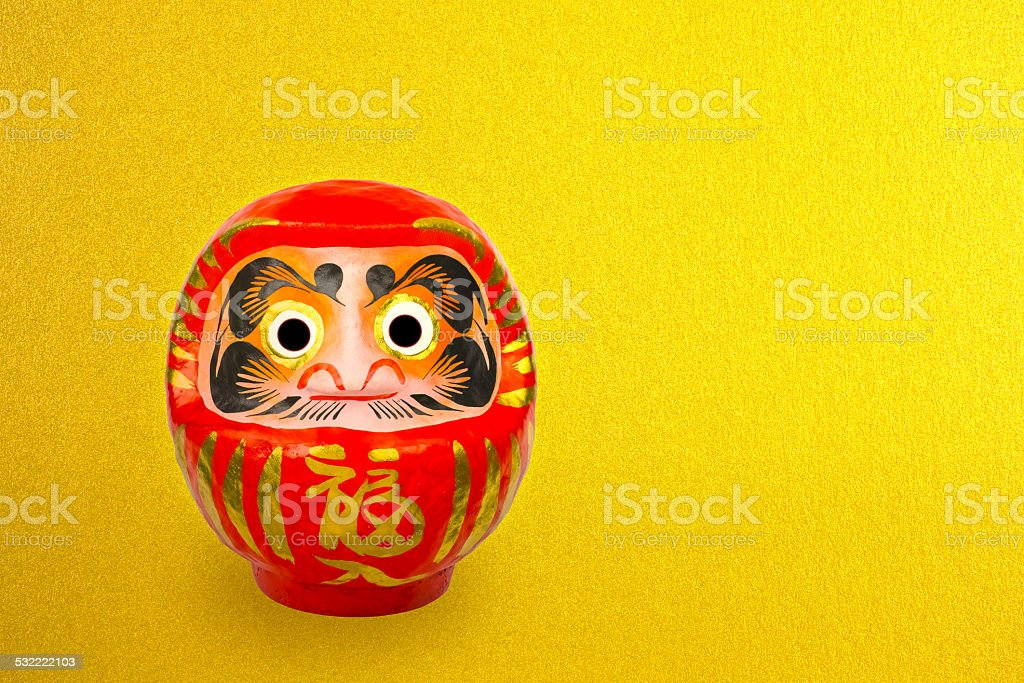 Daruma doll stock photo
