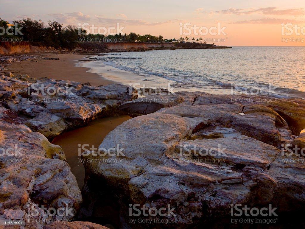 Darwin Beach sunset royalty-free stock photo