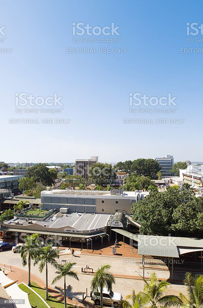 Darwin city skyline stock photo