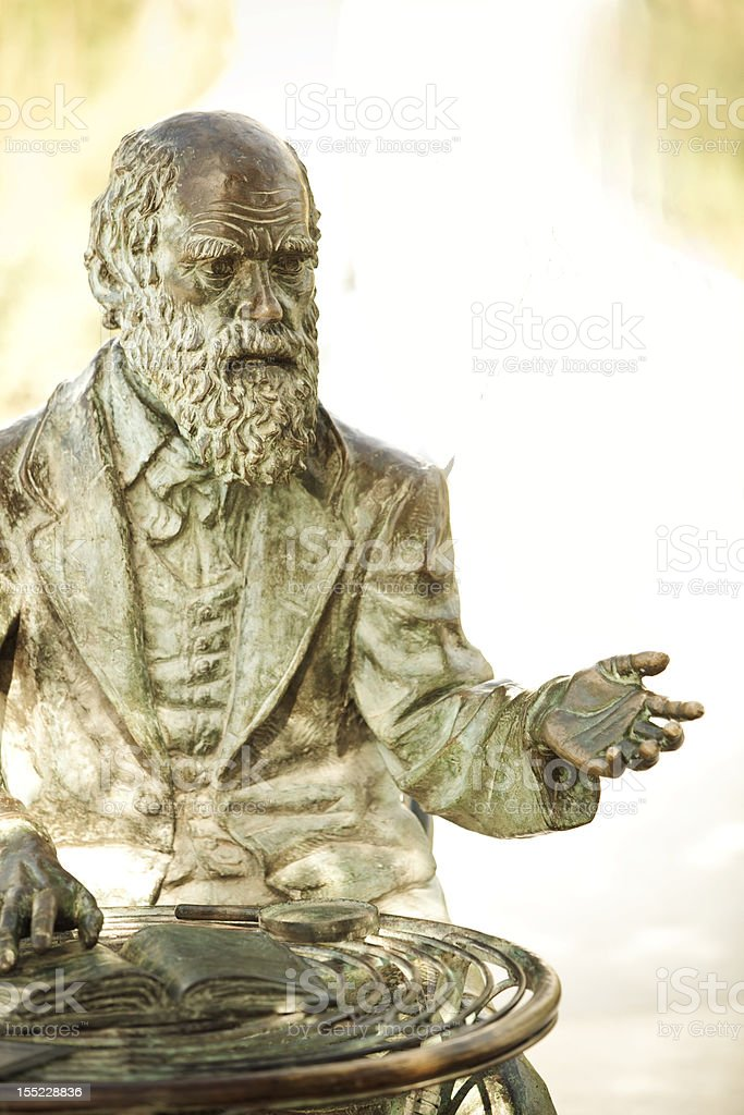 Darwin statue royalty-free stock photo