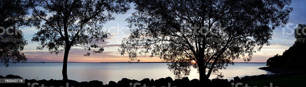 Darwin sunset royalty-free stock photo