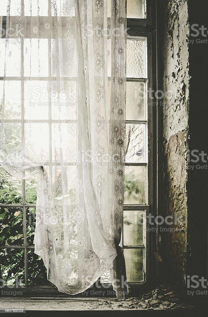 Das Fenster zum Hof stock photo