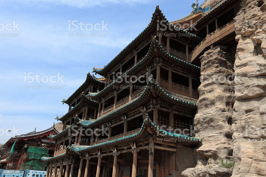 Das H?hlenkloster von Yungang bei Datong in China stock photo
