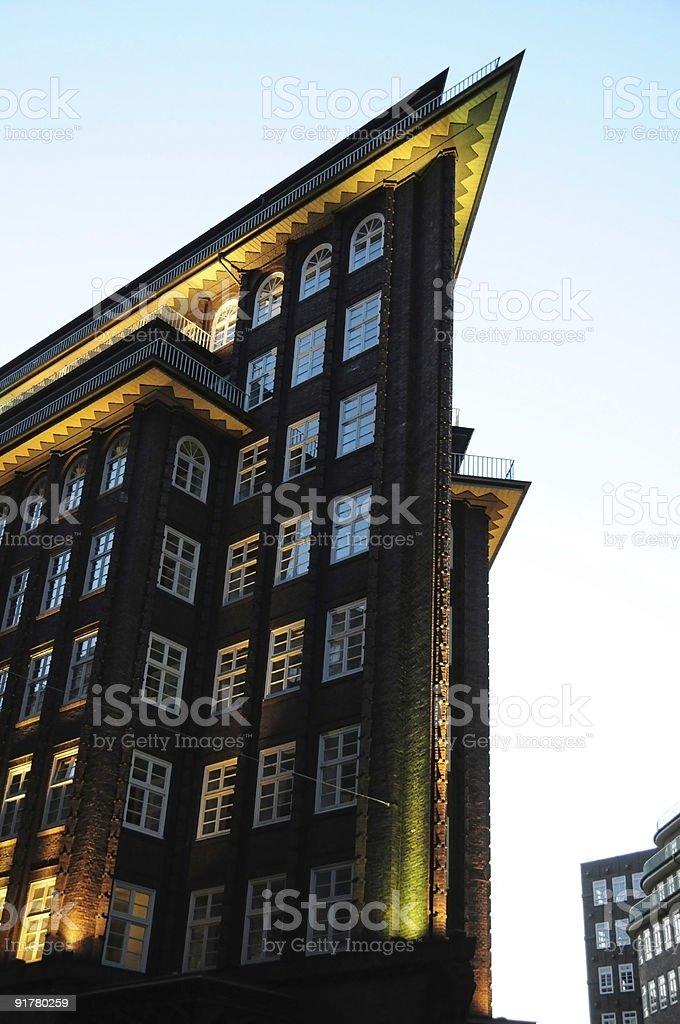 Das Kontorhaus Chilehaus in Hamburg stock photo