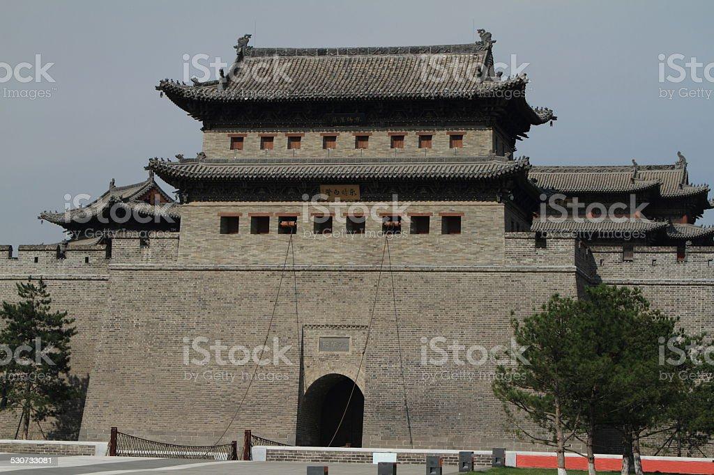 Das Stattor von Datong in China stock photo