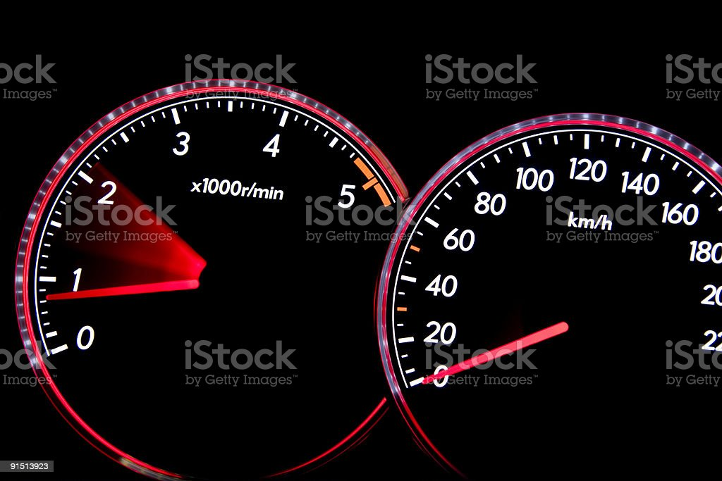 Dashboard gauges royalty-free stock photo