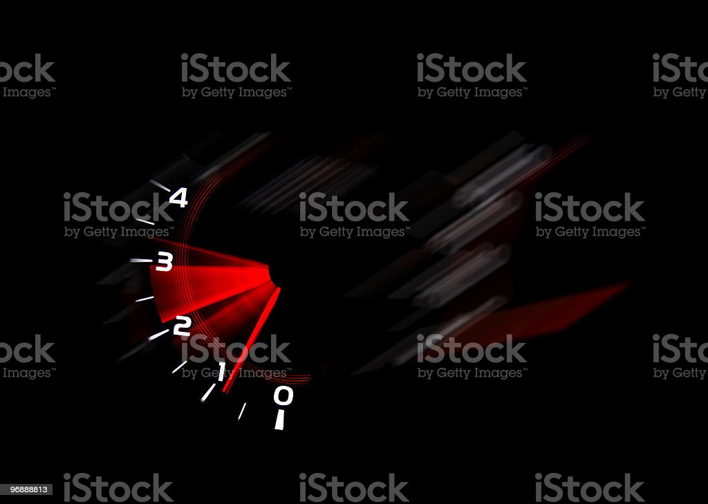 Dashboard gauges stock photo