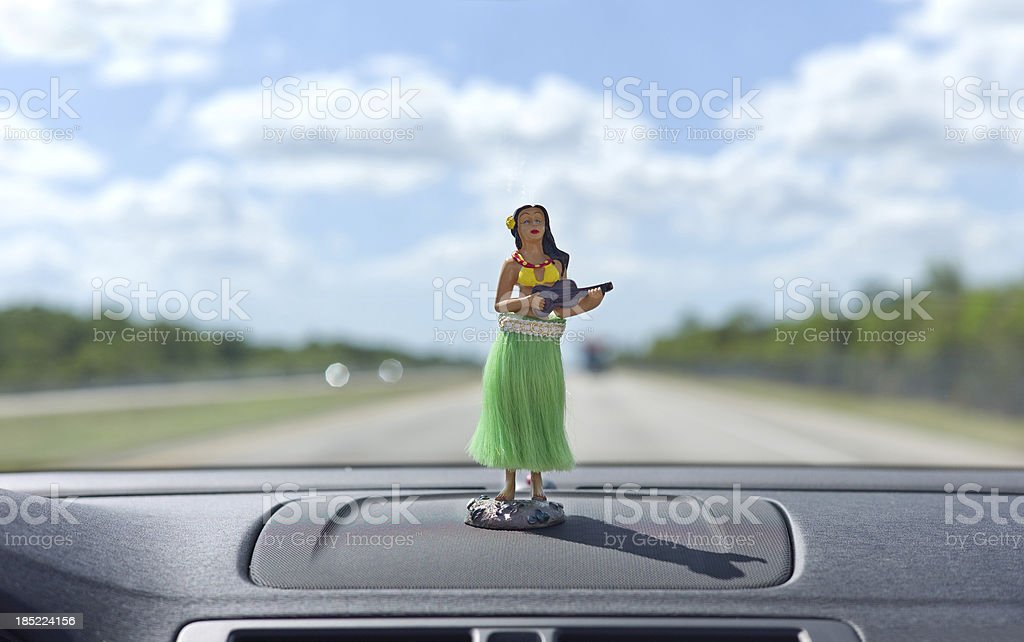 Dashboard hula dancer royalty-free stock photo