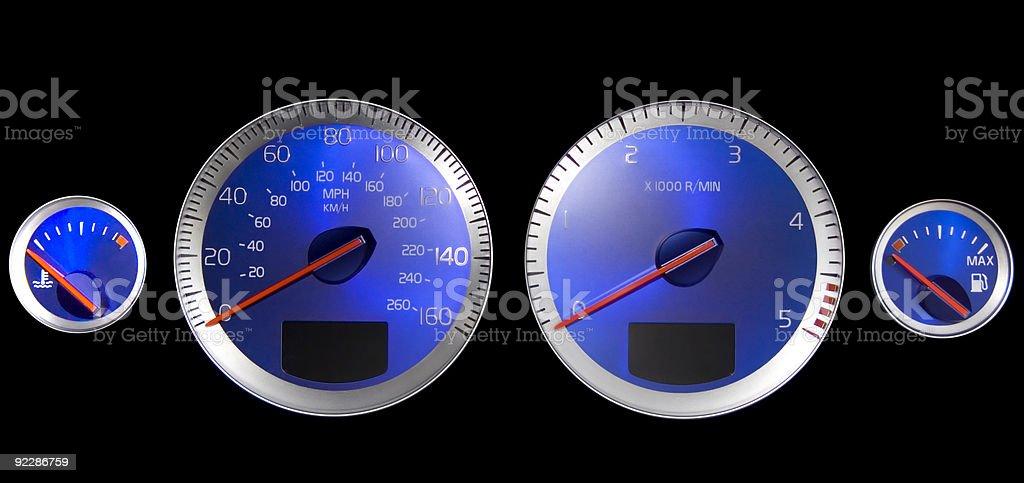 dashboard instruments stock photo