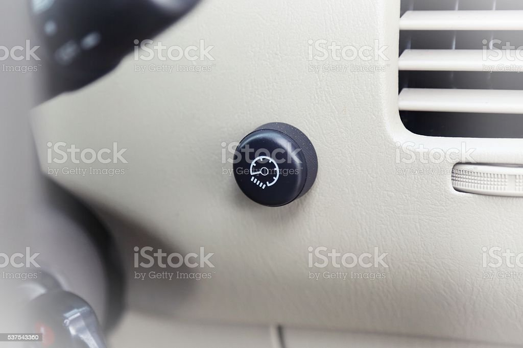 dashboard light controller stock photo