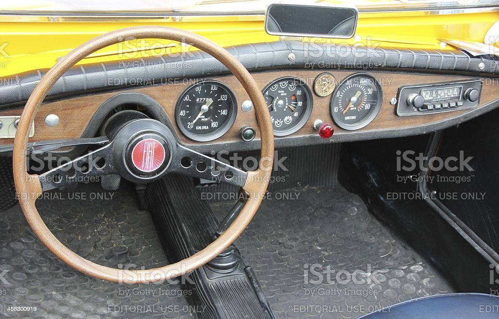 Dashboard of a Fiat 850 royalty-free stock photo