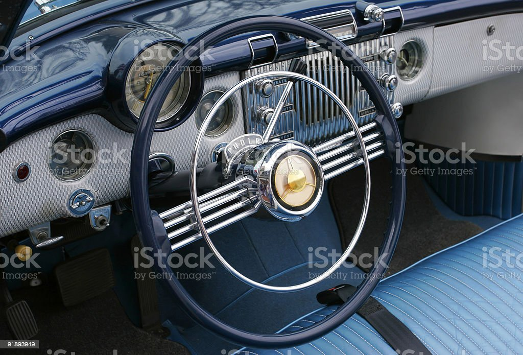 Dashboard of a Vintage car royalty-free stock photo