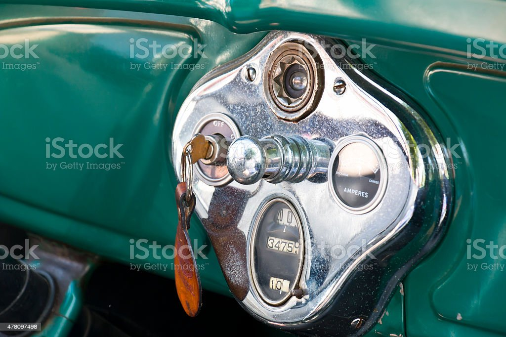 Dashboard of an Ford T Oldtimer stock photo