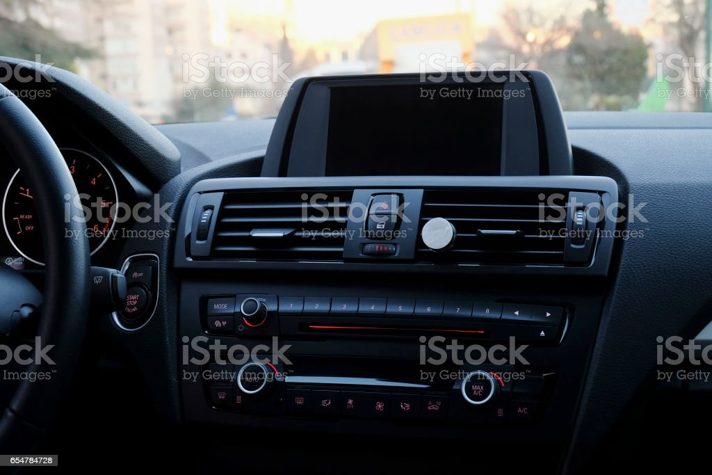 Dashboard Of Modern Car stock photo