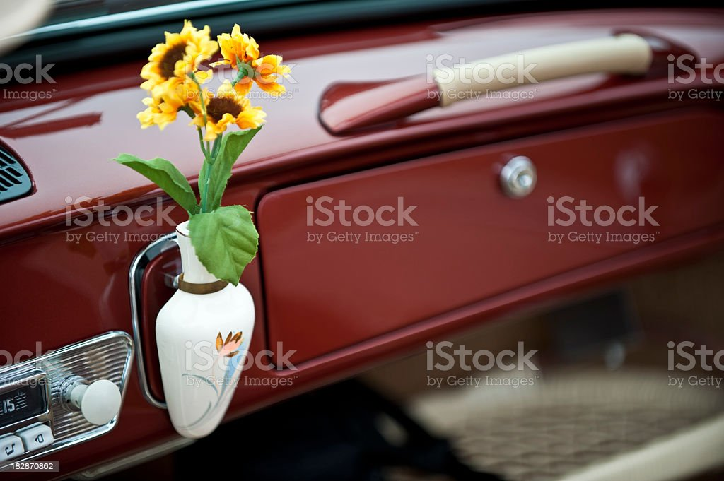 VW Dashboard stock photo