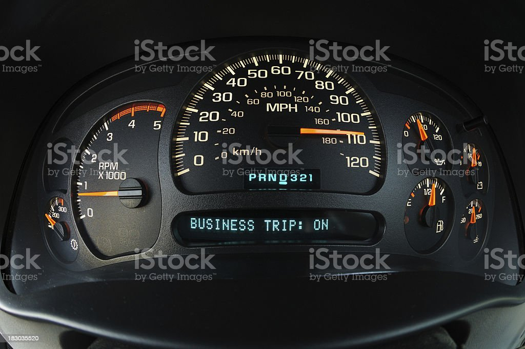 Dashboard set for business trip royalty-free stock photo