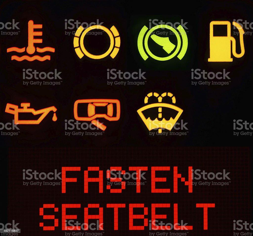 Dashboard symbols stock photo