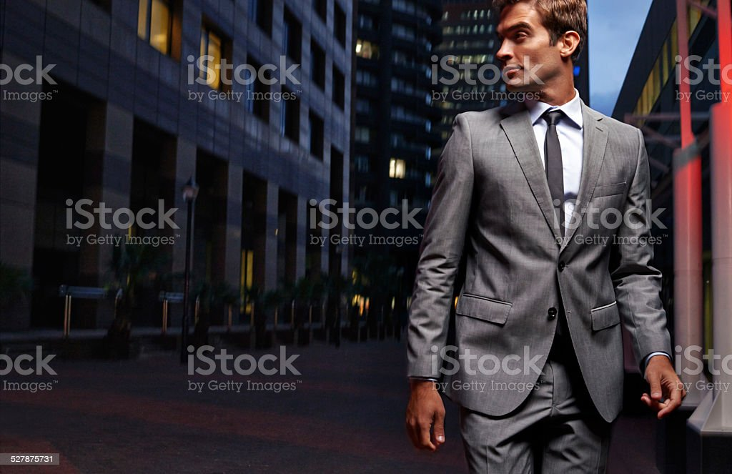 Dashing through the city stock photo