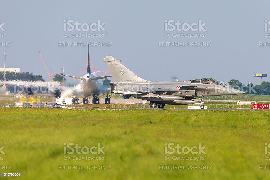 Dassault Rafale at ILA Berlin Air Show 2014 stock photo