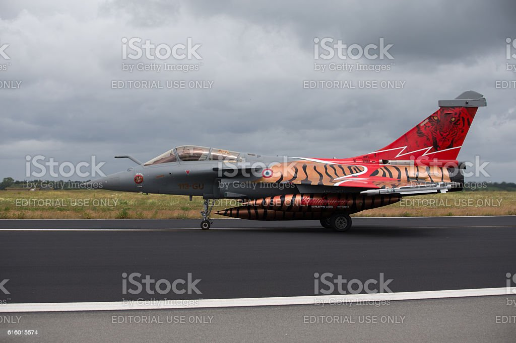 Dassault Rafale at NATO Tiger Meet 2014 stock photo