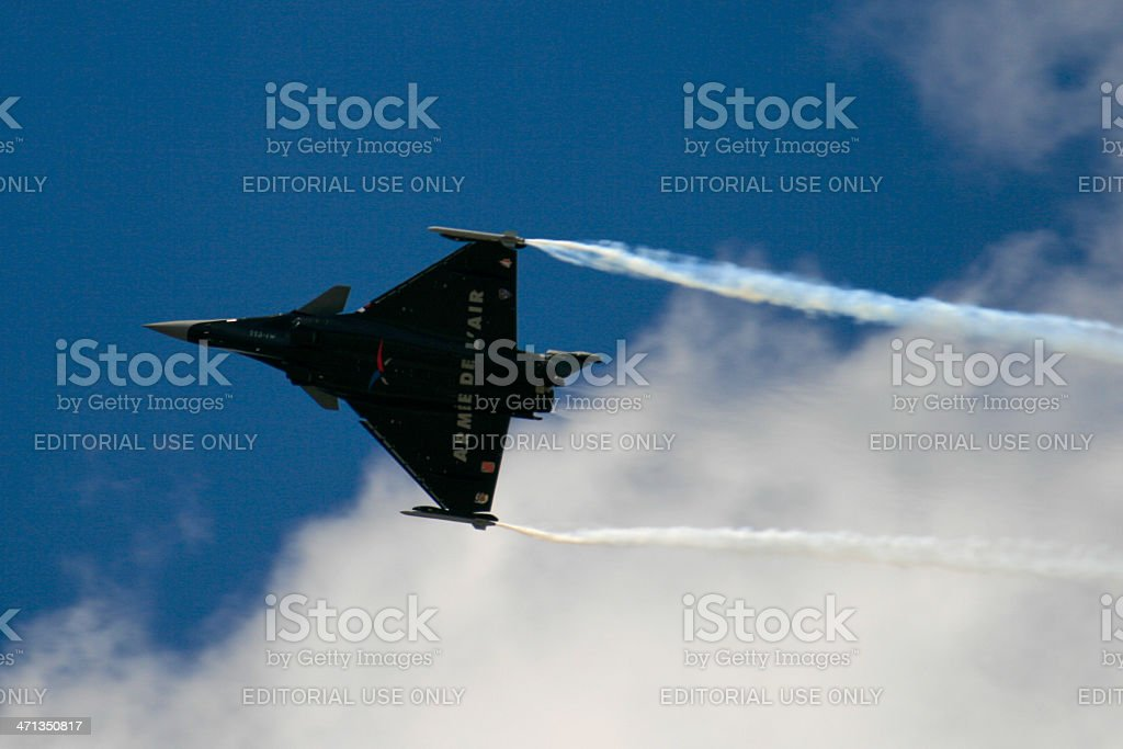 Dassault Rafale in flight stock photo