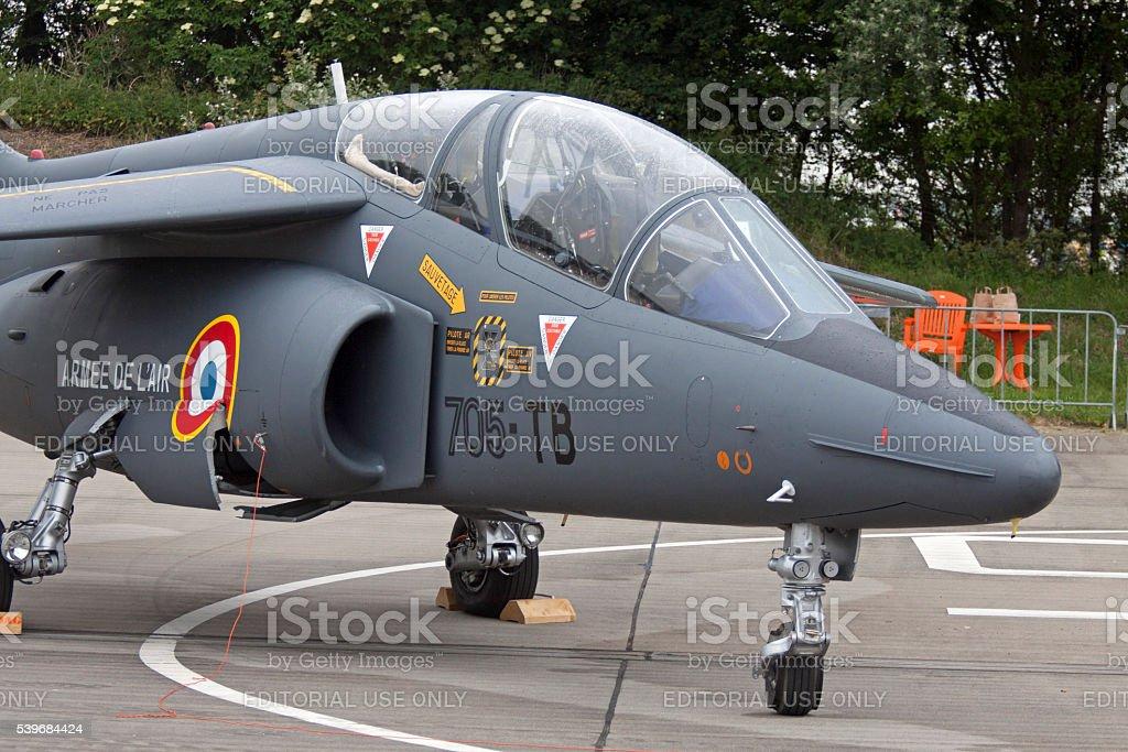 Dassault-Dornier Alpha Jet fighter jets stock photo