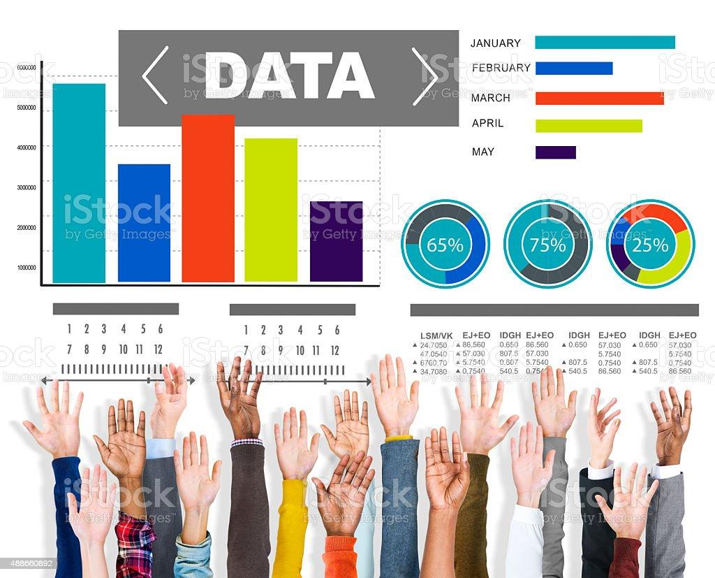 Data Analytics Chart Performance Pattern Statistics Information stock photo