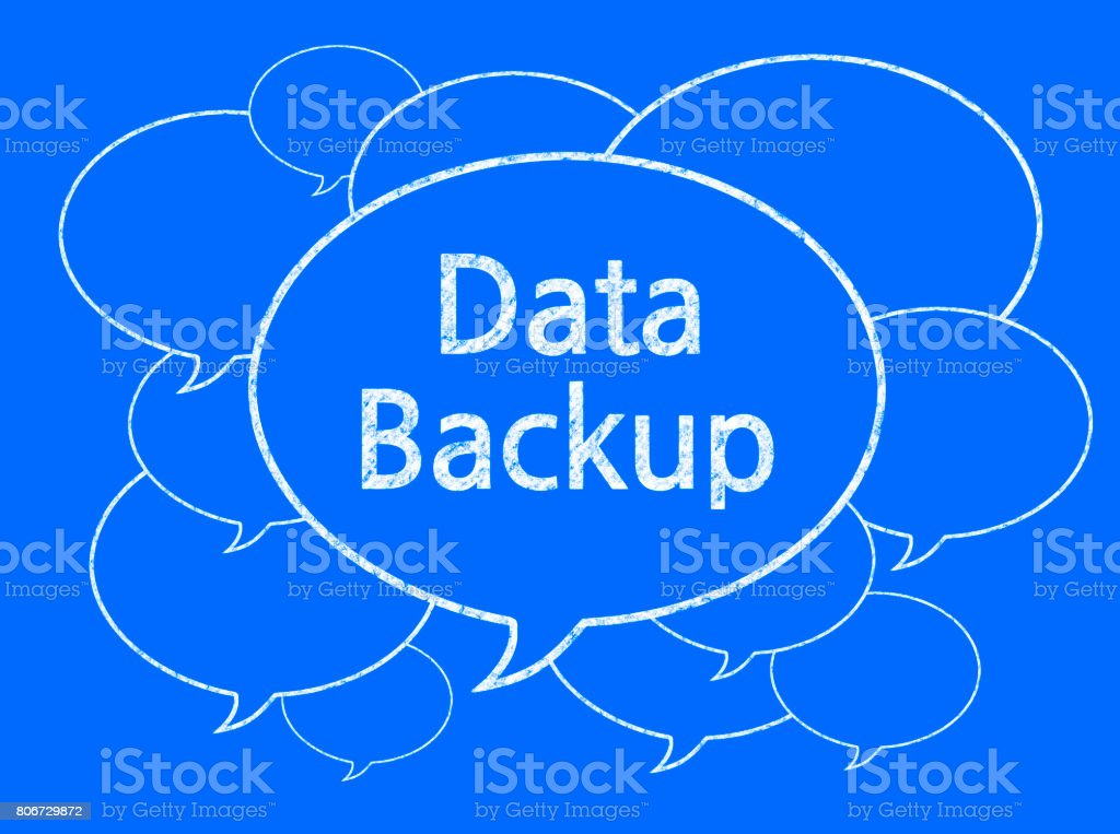 Data Backup (Discussion Concept) - Business Chalkboard Background stock photo