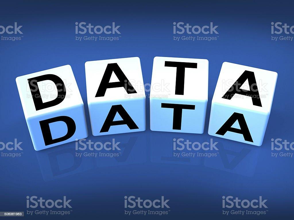 Data Blocks Mean Info Technology or Database stock photo