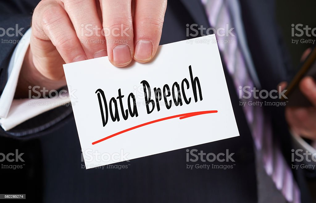 Data Breach Concept stock photo