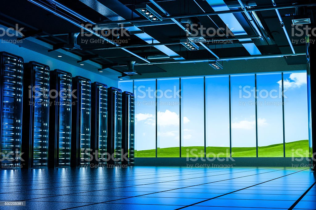 Data center cloud computing stock photo