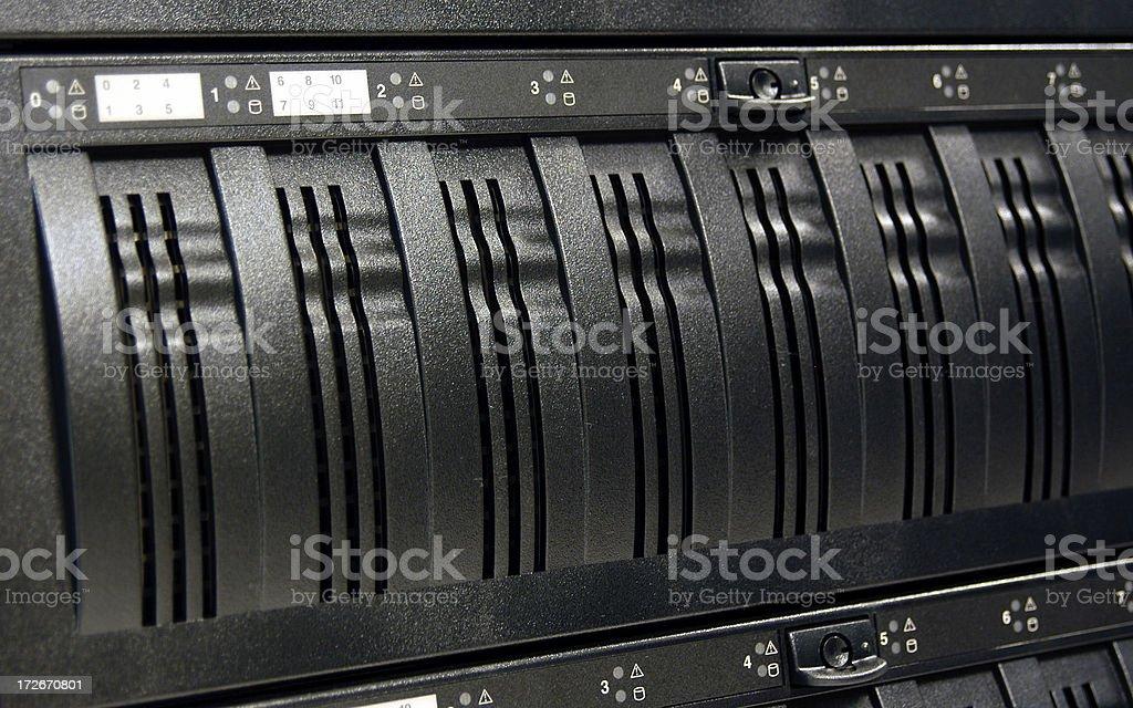 Data Center: Drive Bays 3 royalty-free stock photo