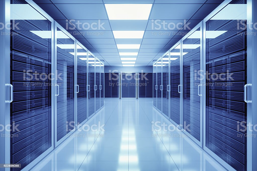 Data Center Interior stock photo