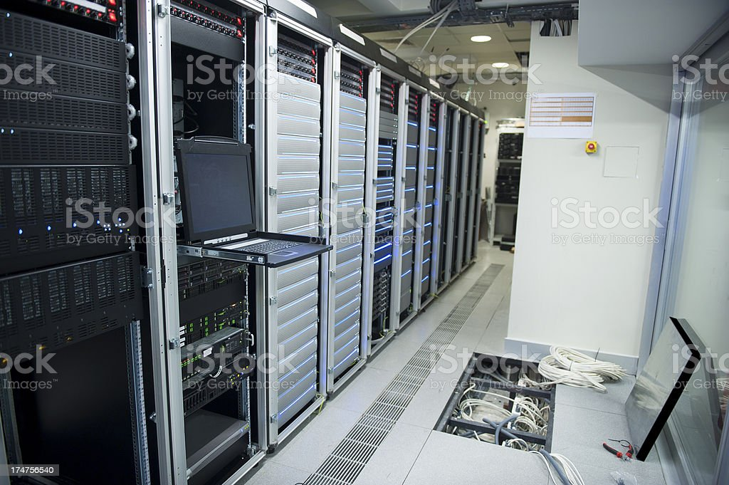 Data center maintenance royalty-free stock photo