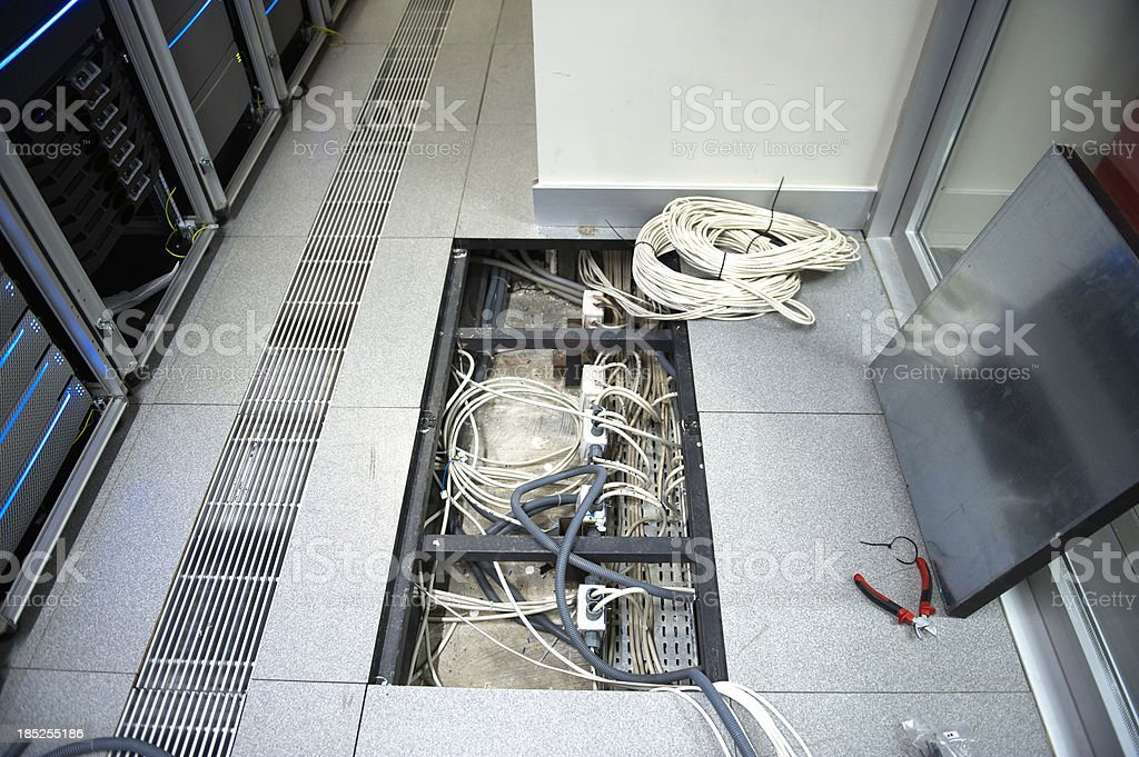 Data Center maintenance royalty-free stock photo