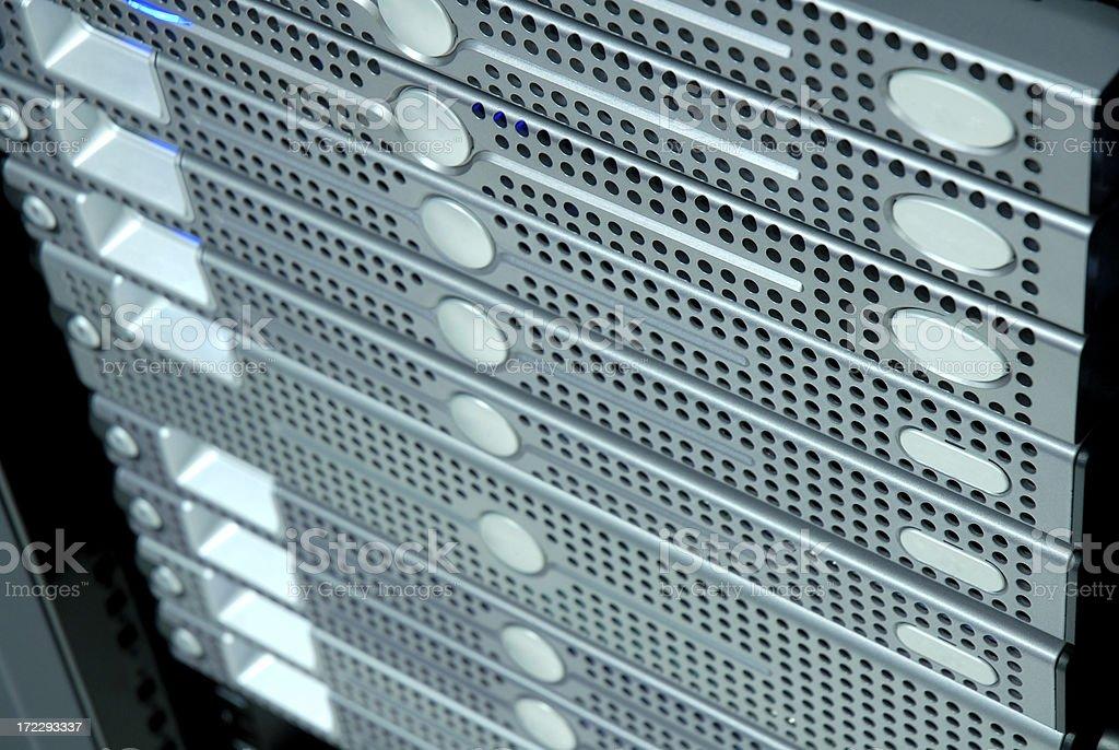 Data Center Server Rack stock photo