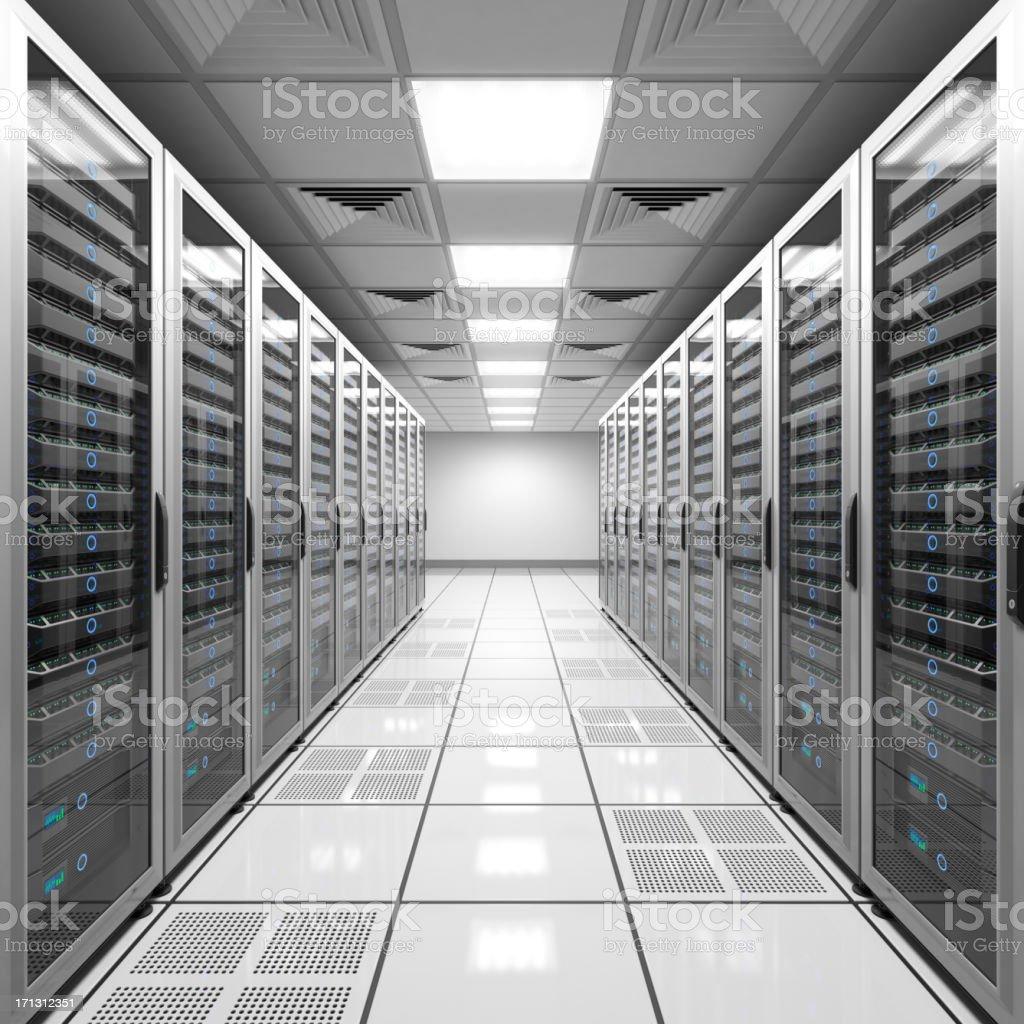 Data center - white royalty-free stock photo