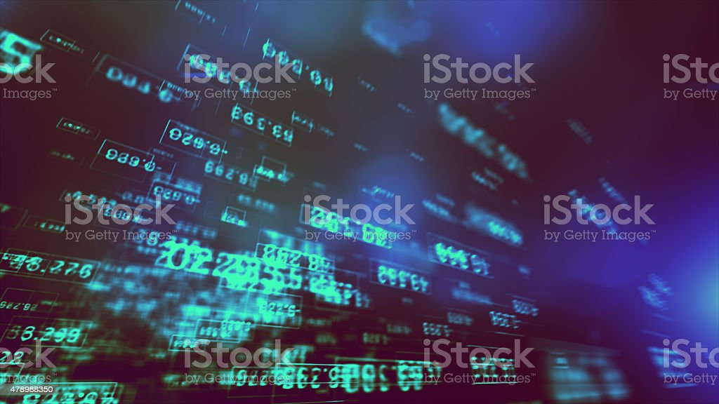 Data Code Digital Technology. stock photo