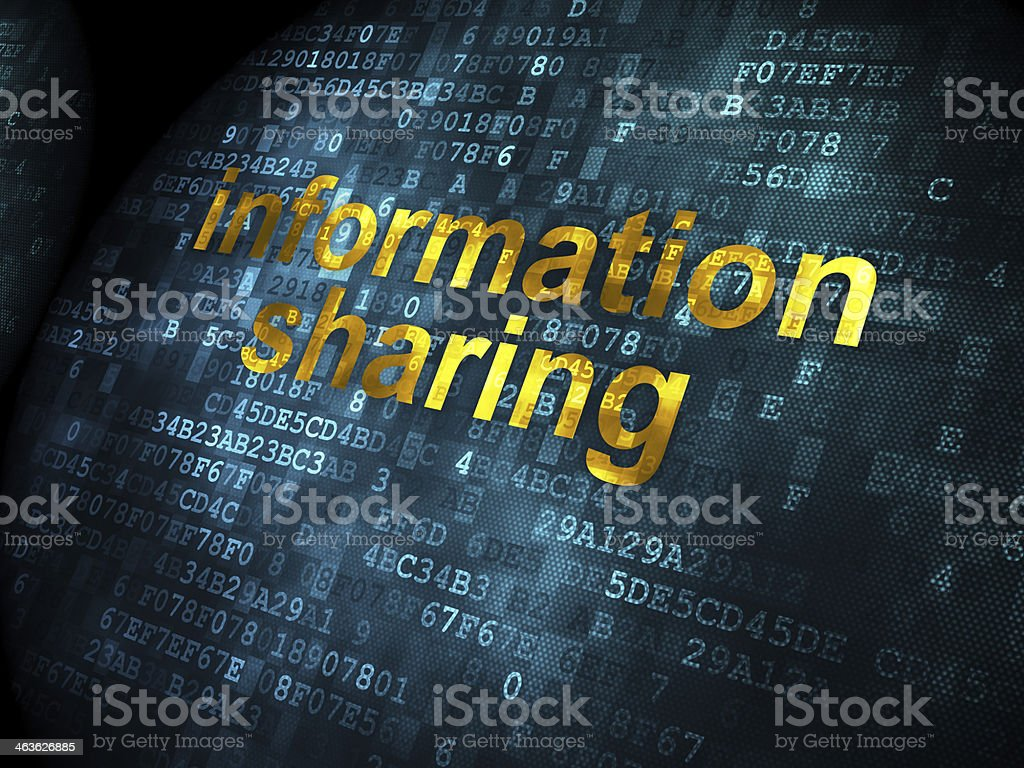 Data concept: Information Sharing on digital background stock photo