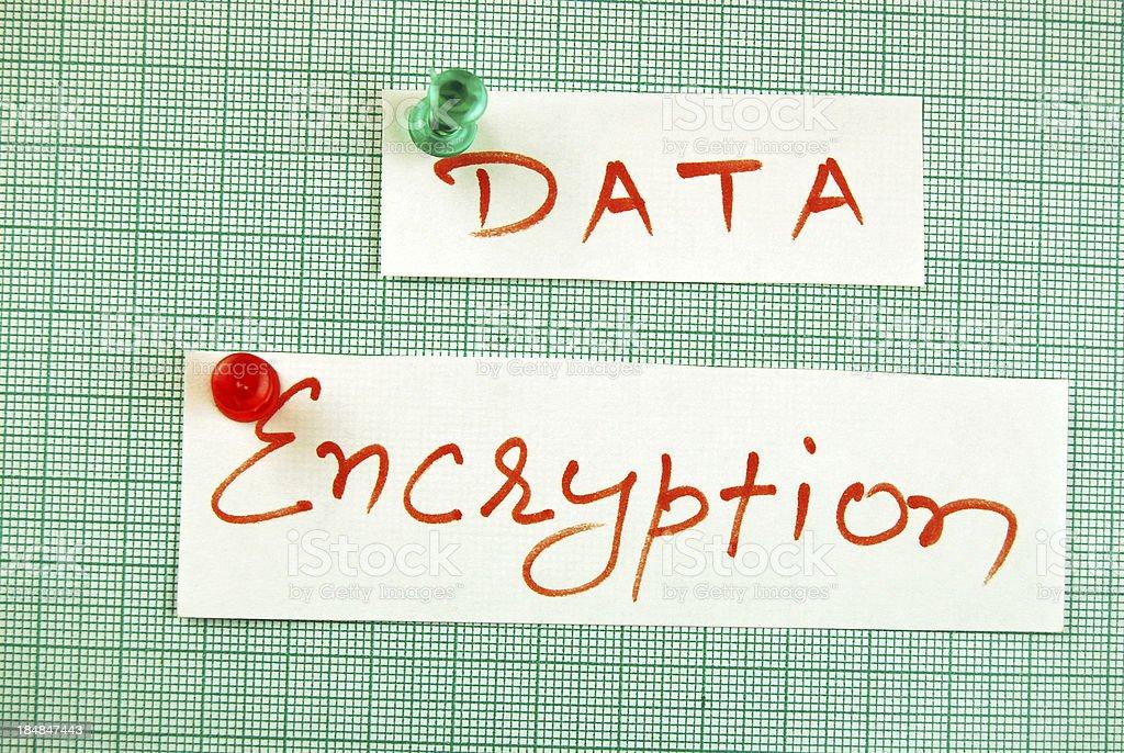 Data encryption royalty-free stock photo