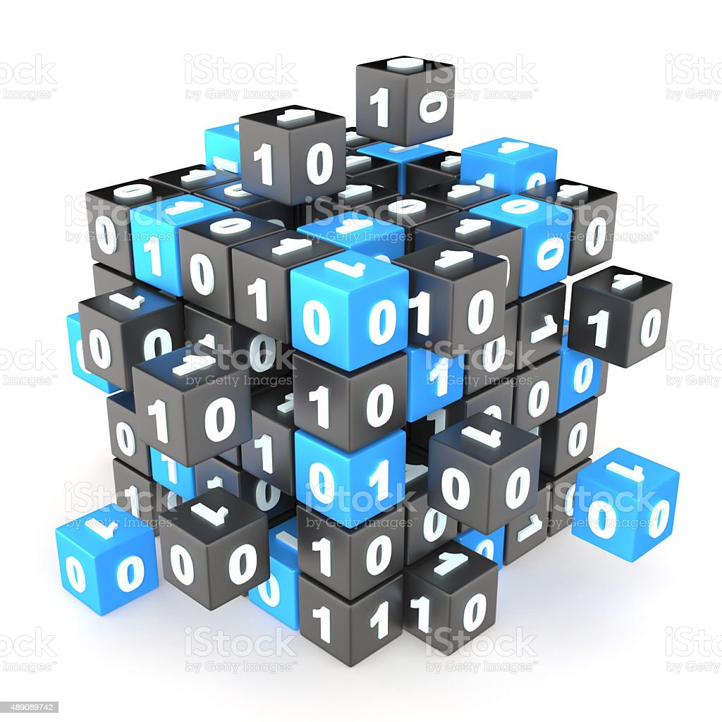 Data encryption stock photo