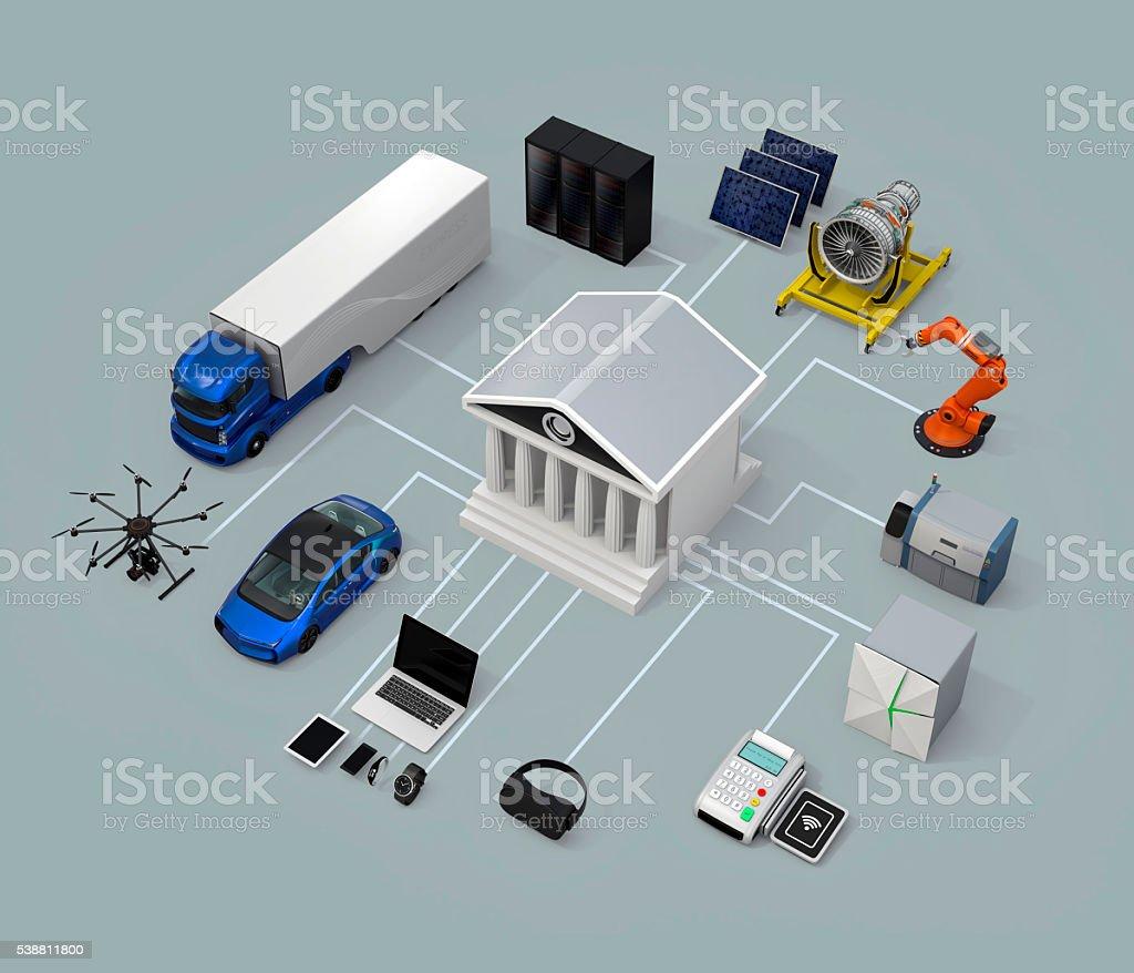 Data exchange marketplace concept stock photo