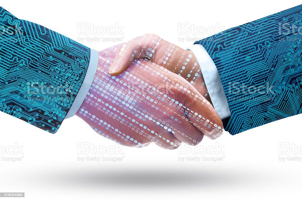 Data Exchange stock photo