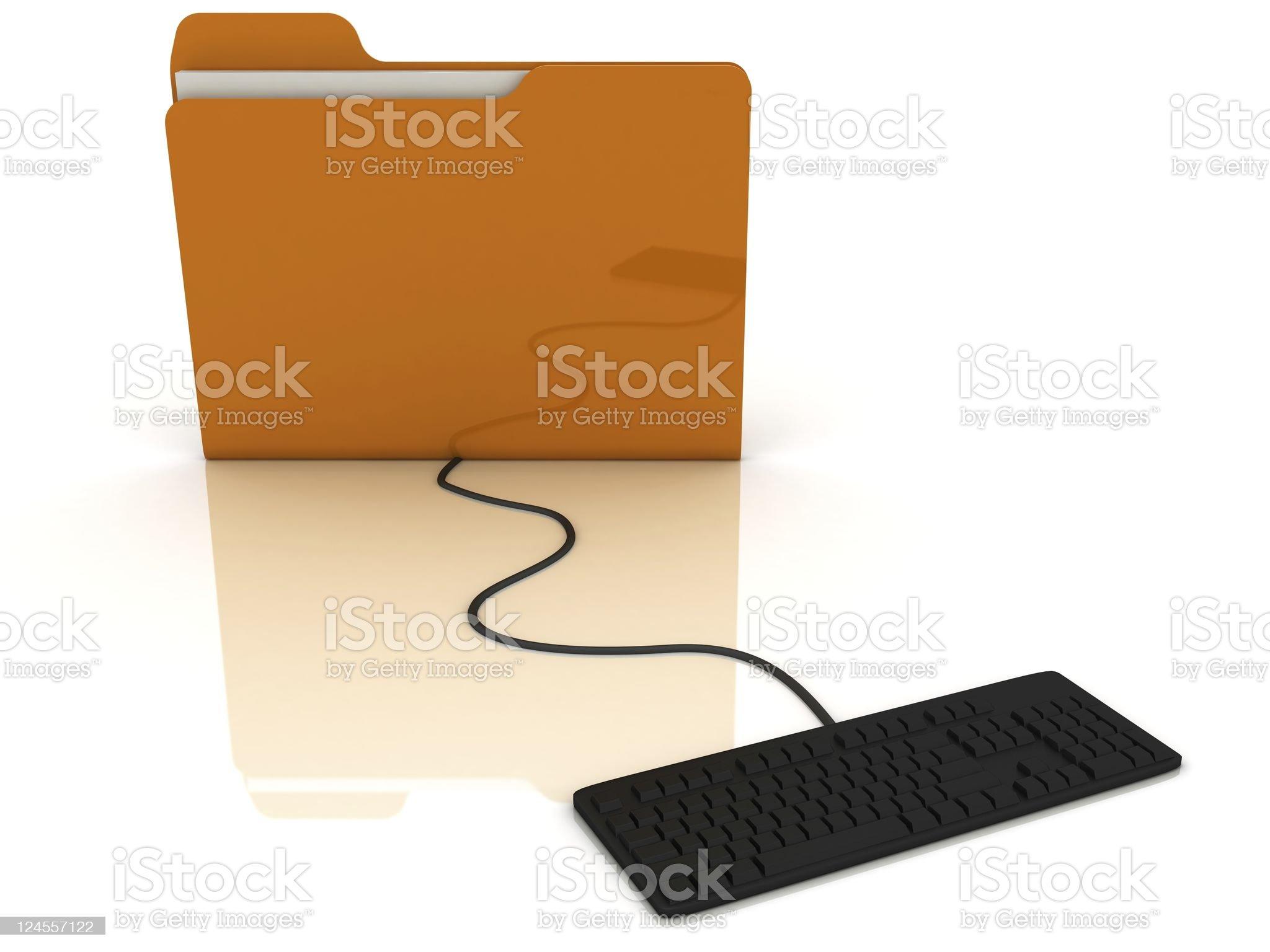 Data Folder royalty-free stock photo