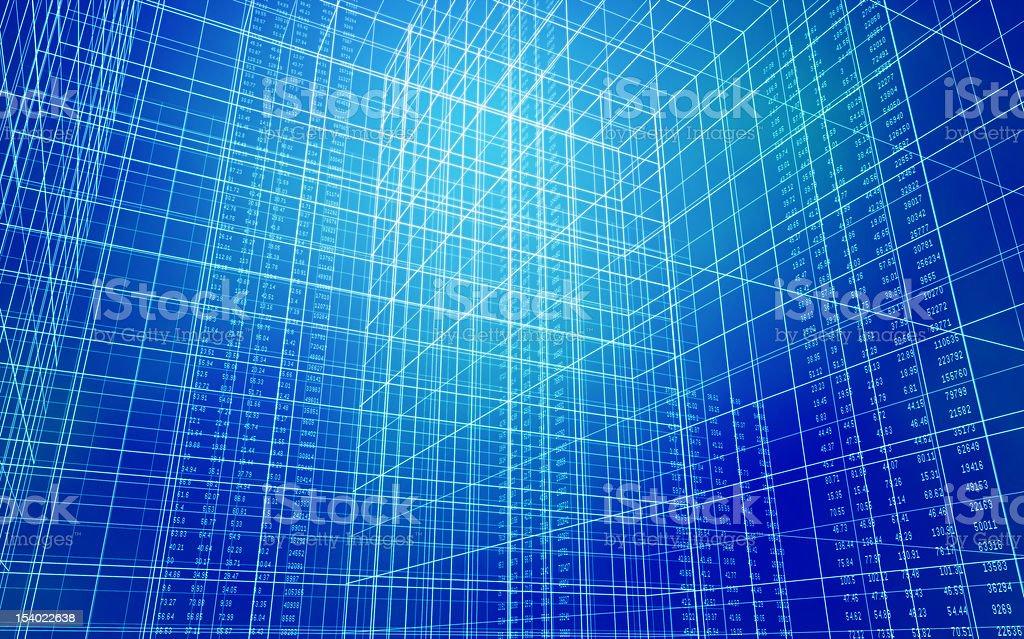 Data Grid royalty-free stock photo
