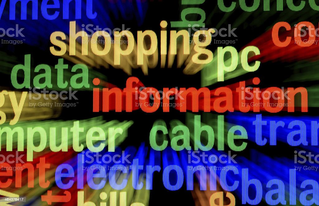 Data information concept stock photo
