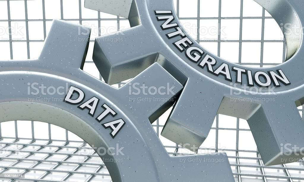 Data Integration on the Mechanism of Metal Gears stock photo