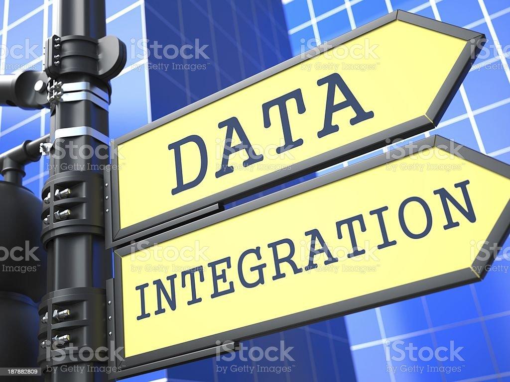 Data Integration Roadsign. Information Concept. stock photo