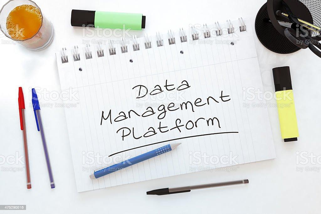 Data Management Platform stock photo